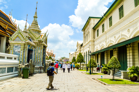 southeast: Bangkok, Thailand, Southeast Asia - Grand Palace architecture Editorial