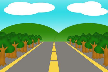 roadway cartoon