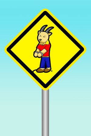 beware: yellow sign beware of scapegoat