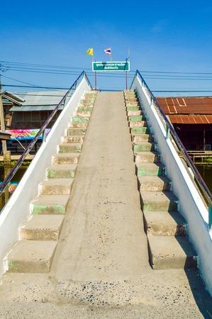 cement bridge in Huatakea Bangkok Thailand 版權商用圖片