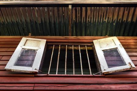 window on wood home photo