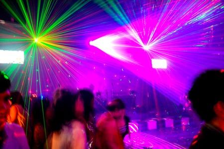 laserlicht in nachtclub