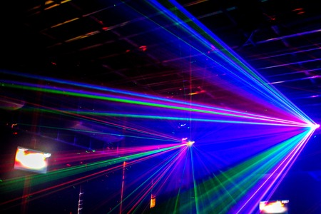 laser light in nightclub Stok Fotoğraf