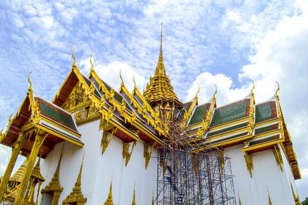 Thai Ancient Art at Wat Phra Kaew in Thailand