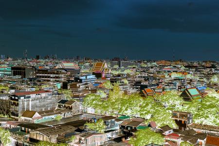 Top view on Bangkok city, Thailand 版權商用圖片