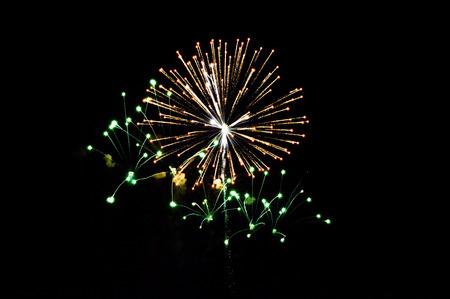 fireworks on dark sky photo