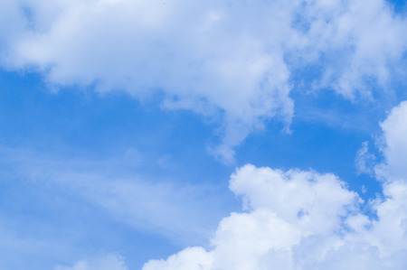 blue sky and white cloud Stock Photo