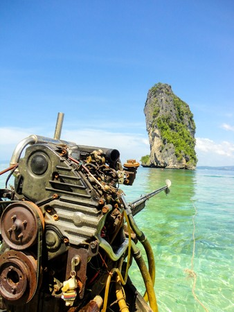 boat on the sea in Thailand