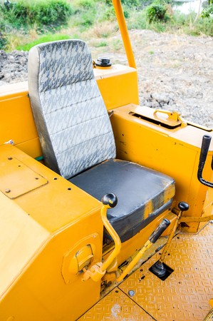 bolster: chair on tractor car Stock Photo