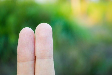 two fingers: two fingers wallpaper Stock Photo