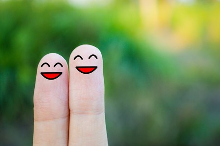 smile fingers Stock Photo - 34926708