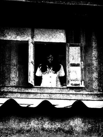 ghost vrouw in het huis