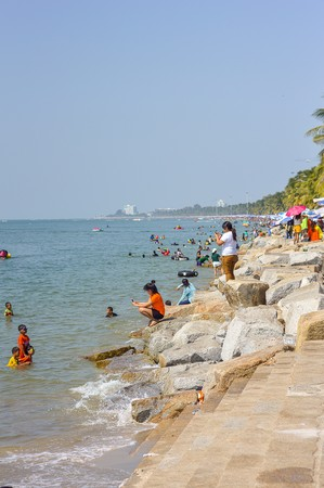 won: tourism in Won Napa beach at Chonburi Thailand
