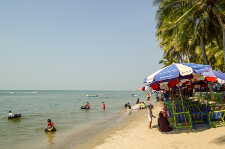 napa: tourism in Won Napa beach at Chonburi Thailand