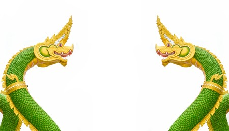 King of Nagas statue on white Background photo