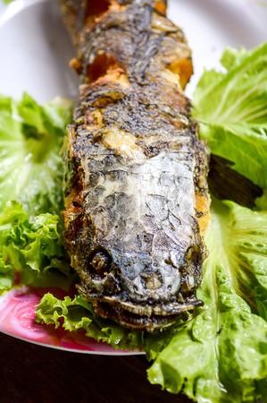 snakehead: Deep Fried Snakehead Fish