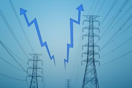 electricity post Stock Photo