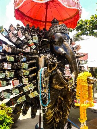 siddhivinayaka: Chachoengsao, Thailand - January 1 2015 : Genesha statue at Wat Saman Rattanaram , Chachoengsao, Thailand