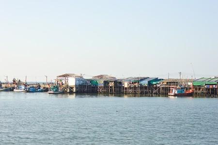fishing village: Fishing Village in Chonburi Thailand Stock Photo
