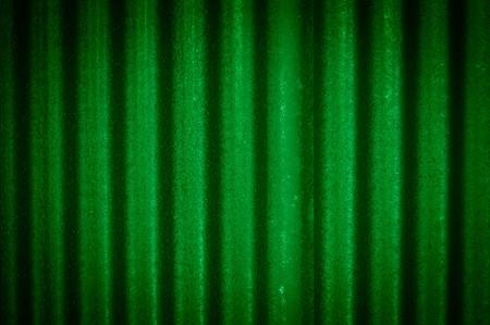 背景の緑の亜鉛壁 写真素材