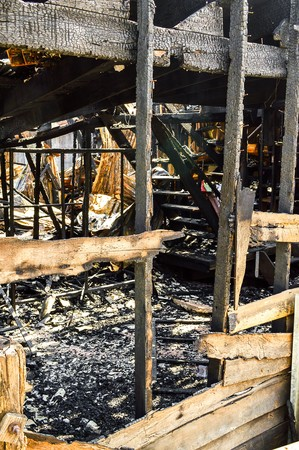 The house after a fire