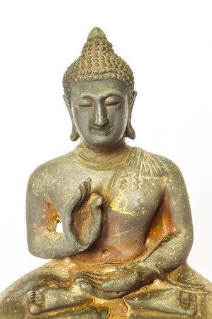 buddha statue on white background 版權商用圖片