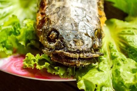 snakehead: Fried crispy Snakehead Fish