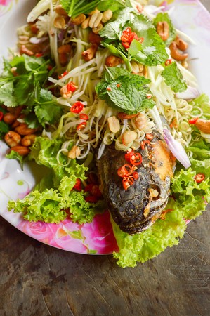 snakehead: Deep Fried Snakehead Fish with Herb