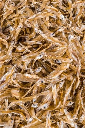 dried anchovies fish, (raw food) Stock Photo