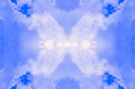 青の抽象的な背景 写真素材