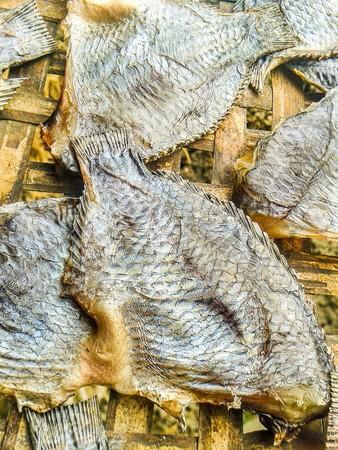 nilotica: dry Nile tilapia salt fish (Thailand raw food)