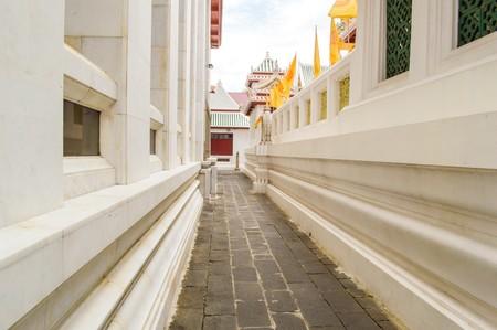walkway in public temple Thailand