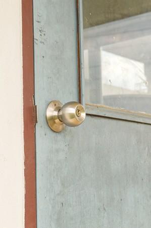 knob: knob on wooden door