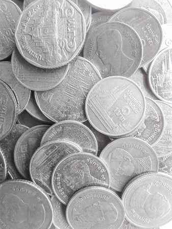 Coins of Thailand 版權商用圖片