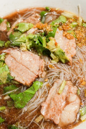asian noodle: Asian noodle with blood (Thailand food)