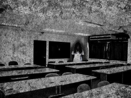 deserted: ghost in classroom