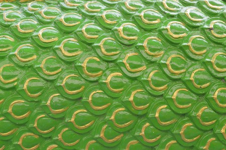 green abstract pattern wall
