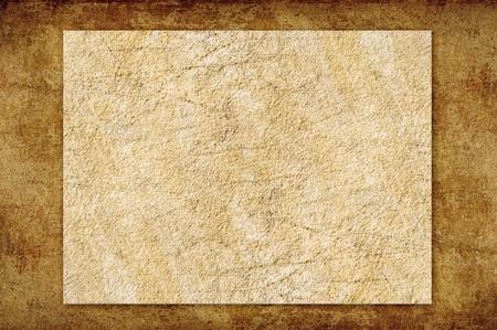 brown paper on cement floor