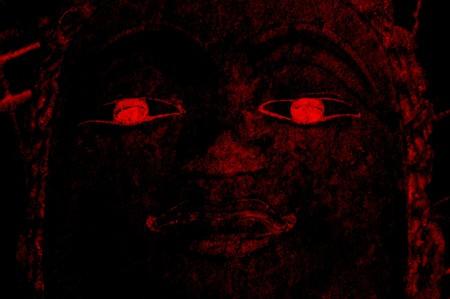 scary dark face statue Stock fotó
