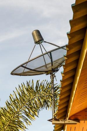 antena parabolica: antena parabólica Foto de archivo