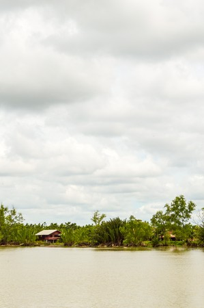 chachoengsao: Bangpakong river in Chachoengsao Thailand Stock Photo