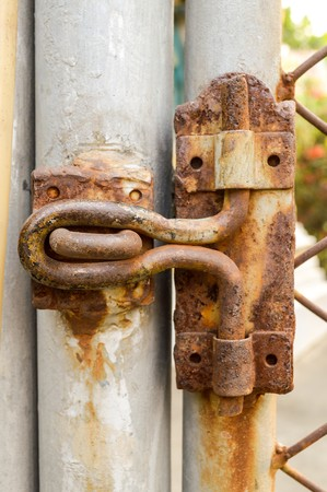 Old rust latch