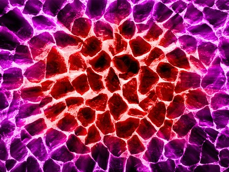 hot lava in cracked ground Stock Photo