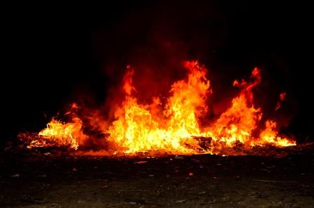 llamas de fuego: la quema de fuego Foto de archivo