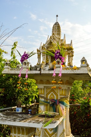 country house style: Thai Style Joss House in country Thailand Stock Photo