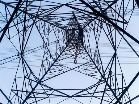 industrieel: post van de elektriciteit in het land van Thailand Stockfoto