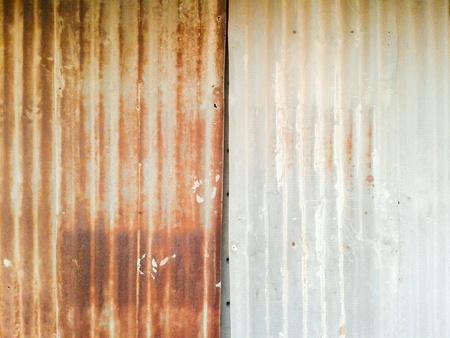 grunge: Rusty zinc wall texture Stock Photo
