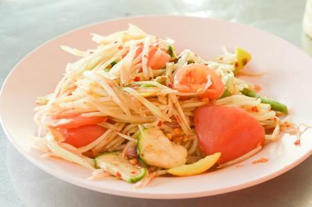 spicy: spicy papaya salad Asian spicy food