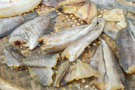 nilotica: dry Nile tilapia salt fish Thailand raw food