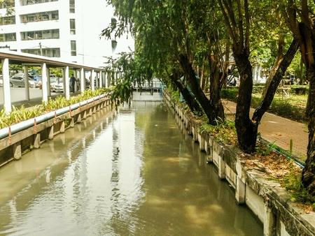 Canal in bangkok thailand 版權商用圖片